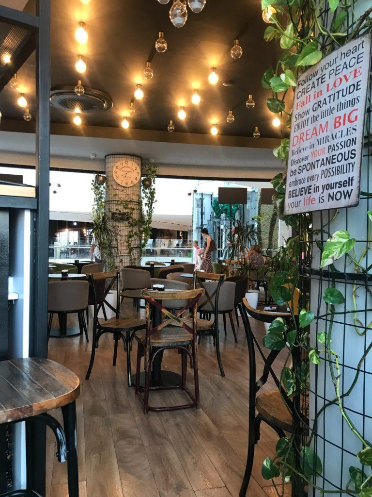 chairs in restaurant